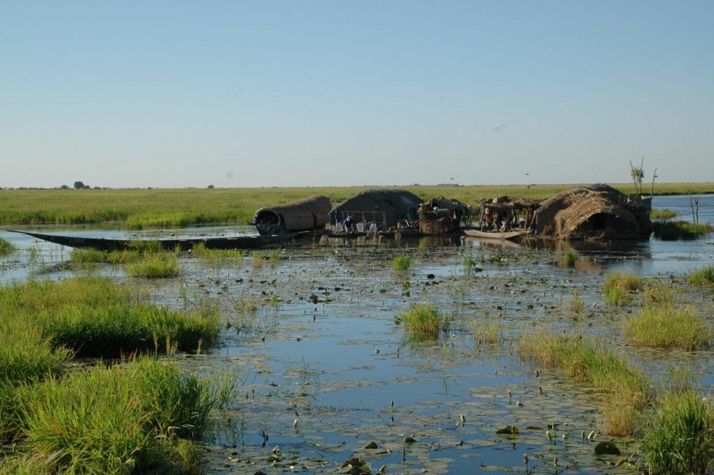 Hoog water in de binnendelta van de Niger in Mali, Leo Zwarts